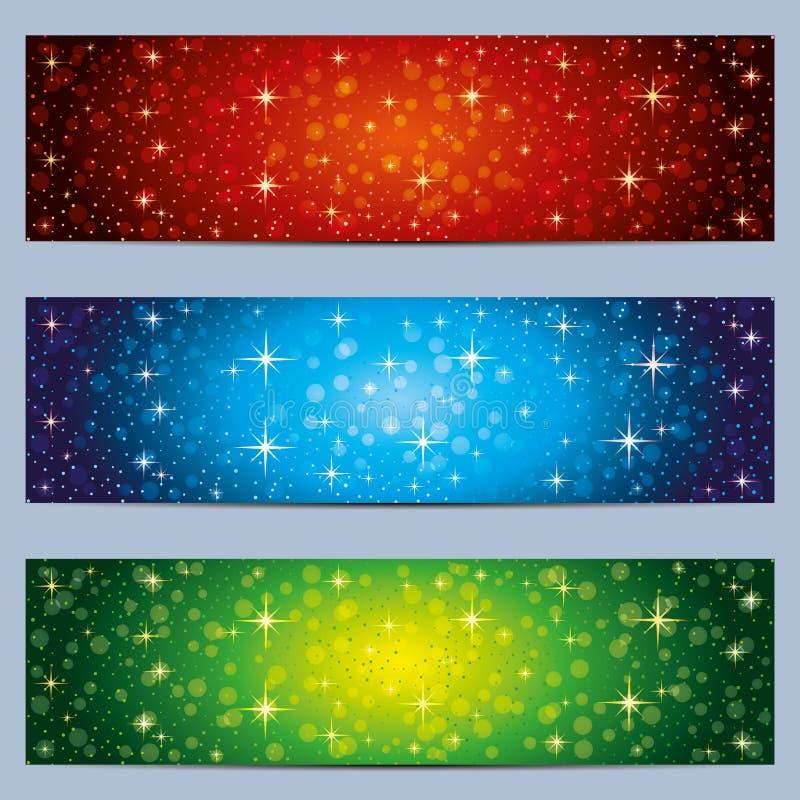 Conjunto de banderas del Web ilustración del vector