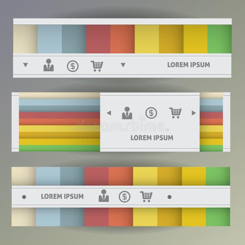 Conjunto de banderas del Web libre illustration
