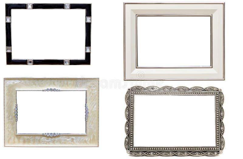 Conjunto de bastidores antiguos del cuadro y de la foto del metal fotos de archivo libres de regalías