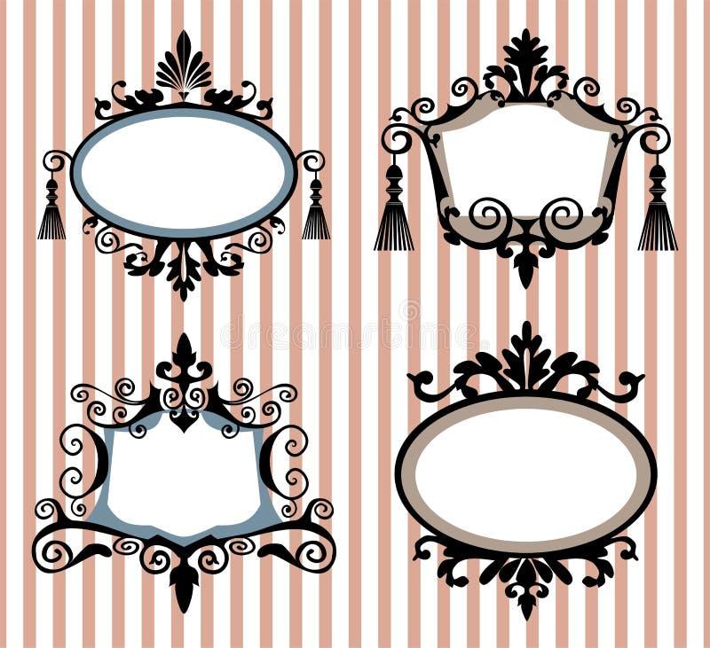 Conjunto de bastidores de la vendimia ilustración del vector