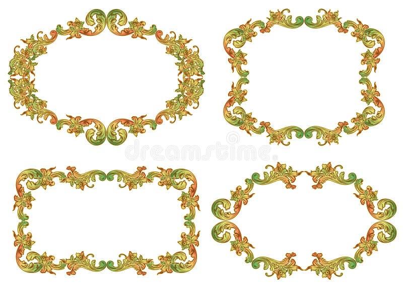 Conjunto de bastidores florales libre illustration