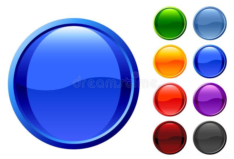 Conjunto de botones brillantes del Web ilustración del vector