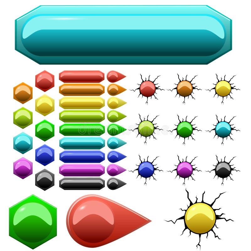 Conjunto de botones coloreados fotografía de archivo libre de regalías