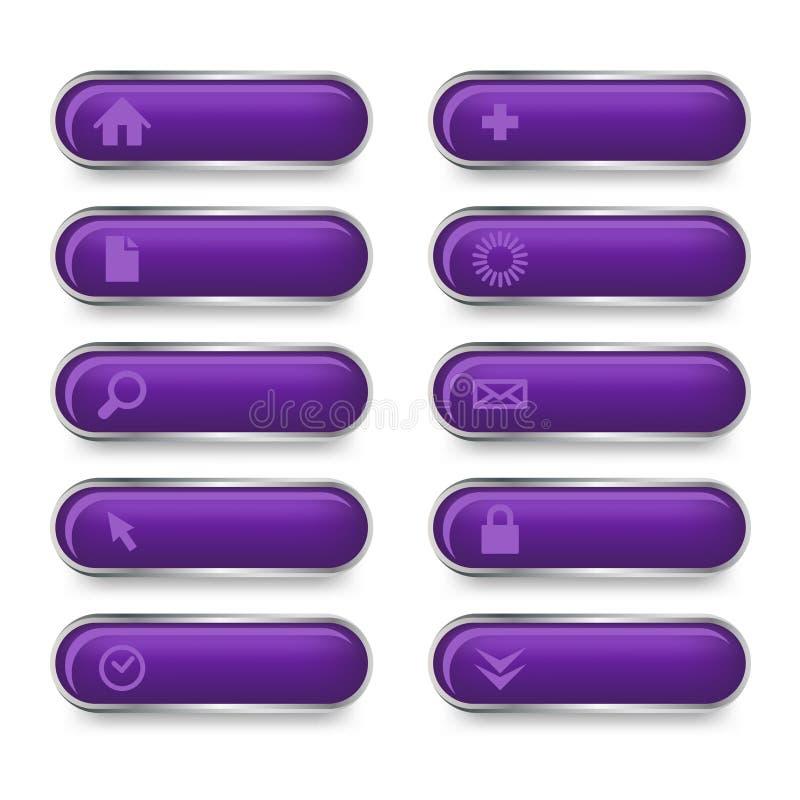Conjunto de botones del Web ilustración del vector