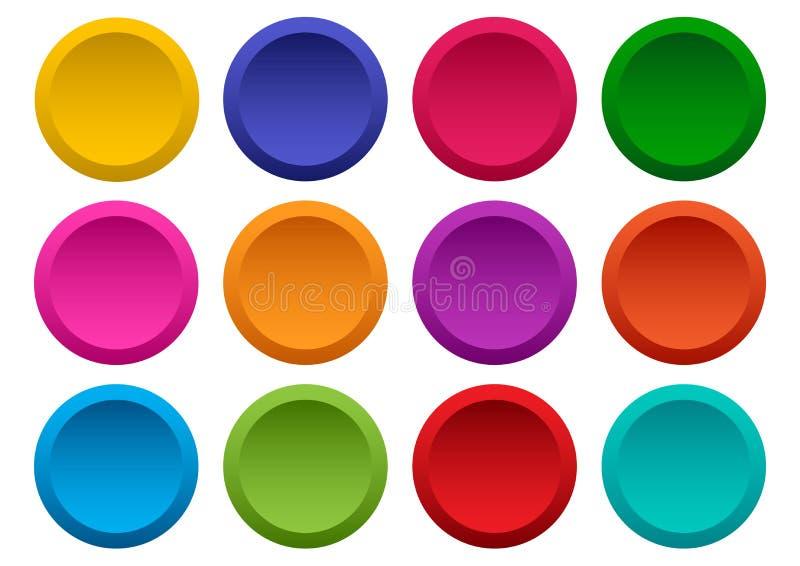 Conjunto de botones redondos coloridos Vector libre illustration