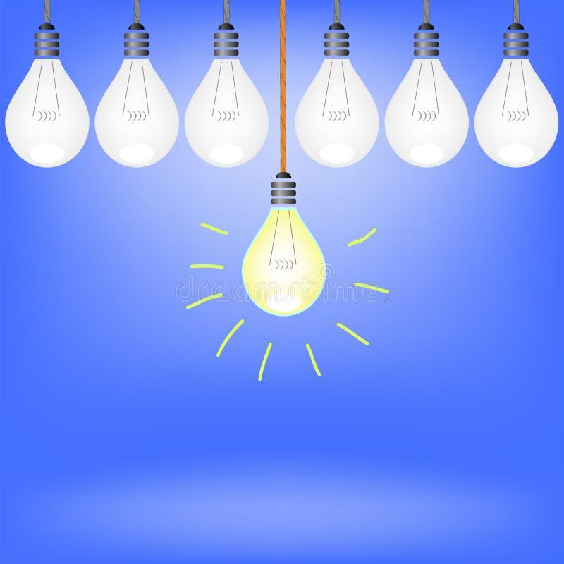 Conjunto de bulbos ilustración del vector