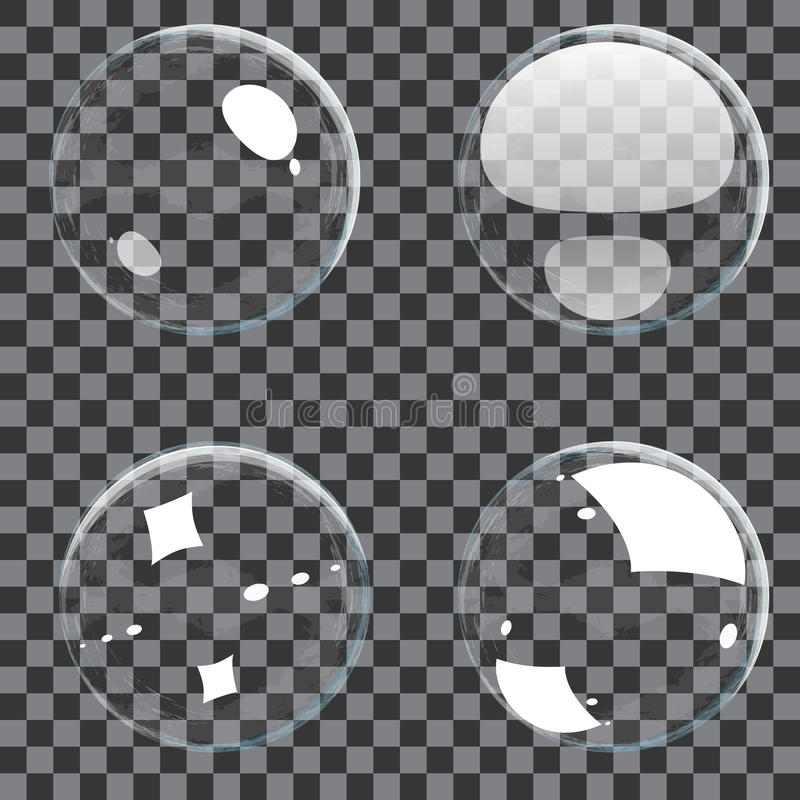 Conjunto de burbujas transparentes libre illustration