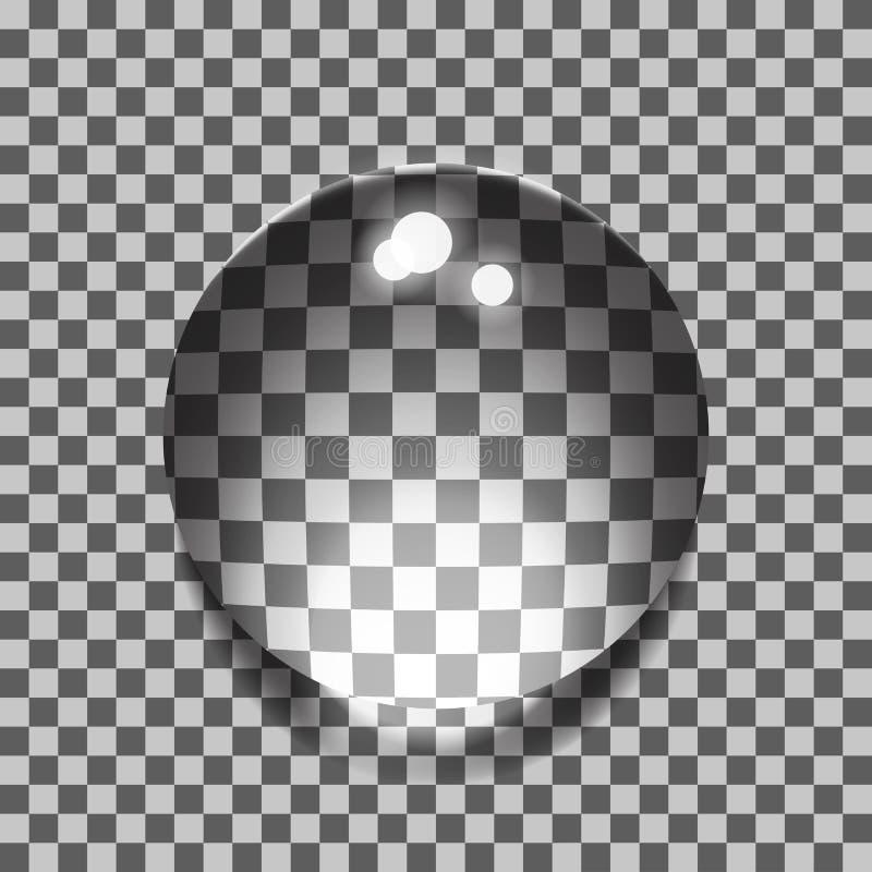 Conjunto de burbujas transparentes ilustración del vector