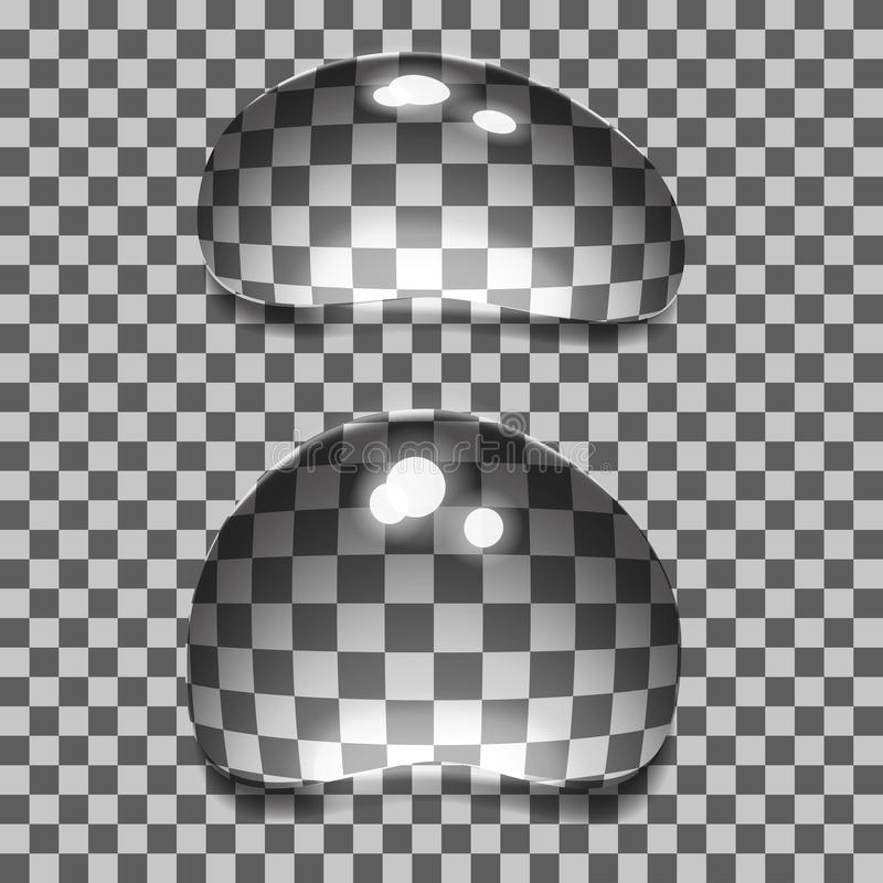Conjunto de burbujas transparentes stock de ilustración