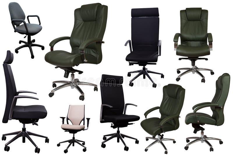 Conjunto de cadeiras de escritório fotos de stock