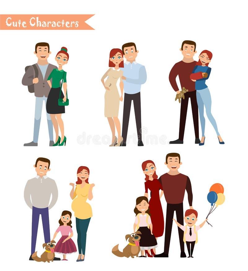 Conjunto de caracteres stock de ilustración