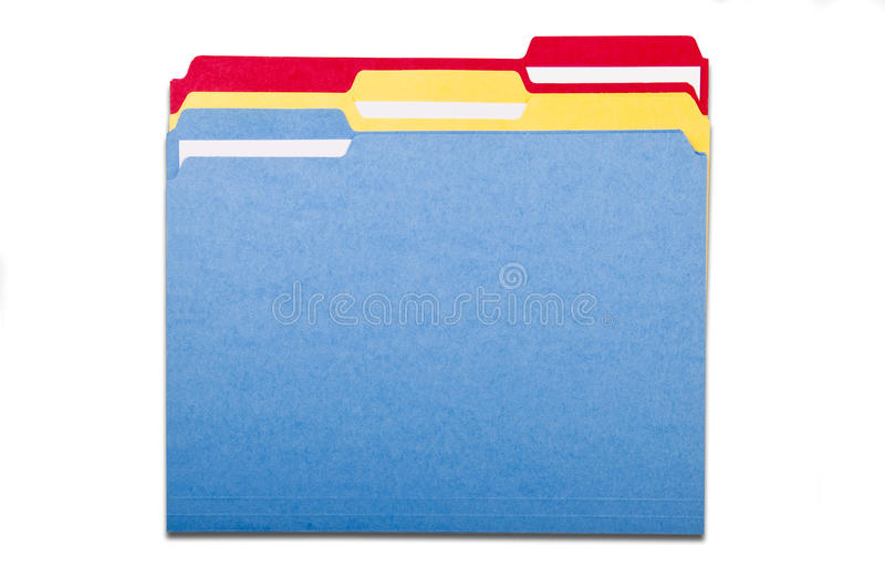 Conjunto de carpetas de fichero coloridas foto de archivo libre de regalías