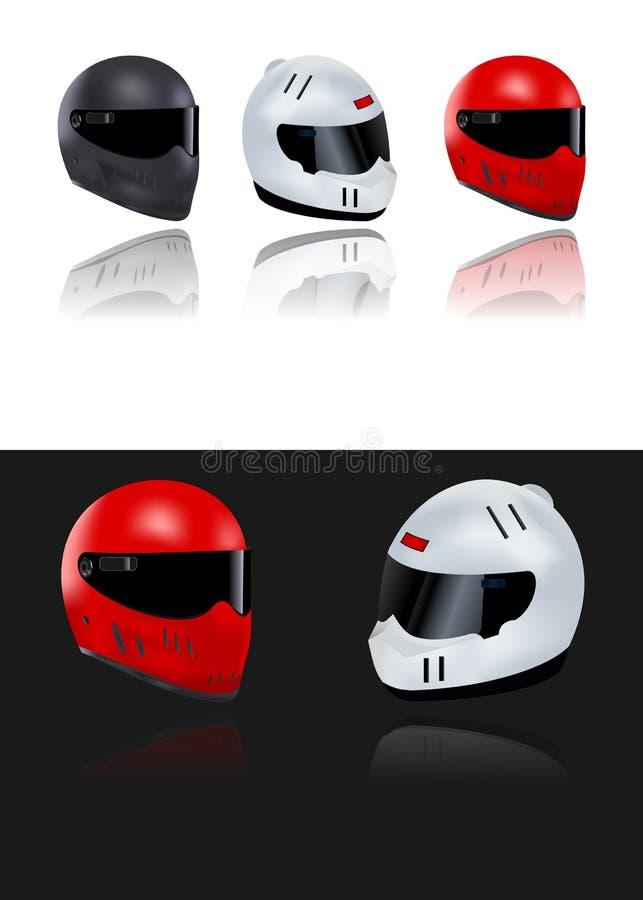 Conjunto de cascos de la motocicleta, vector de los cdr libre illustration