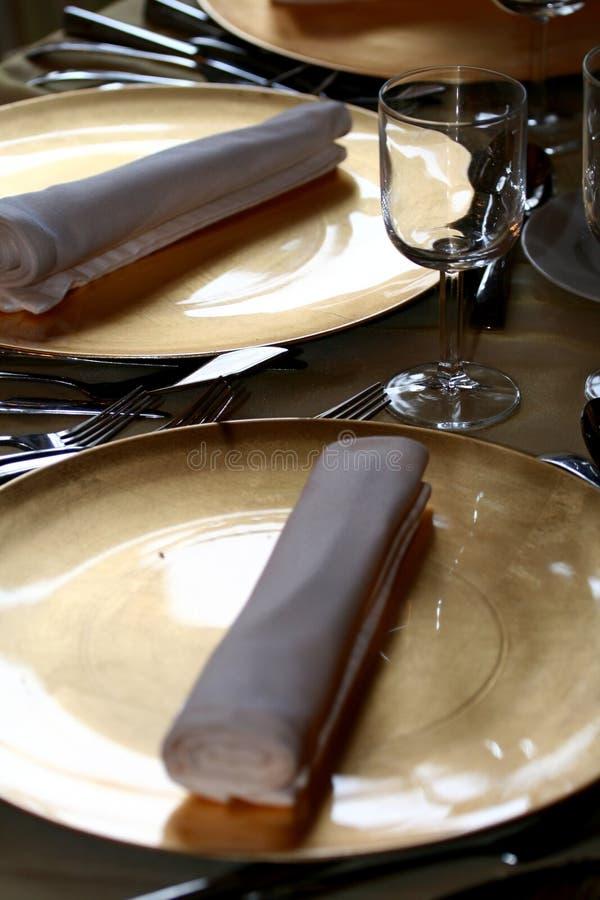 Conjunto de cena de lujo foto de archivo libre de regalías