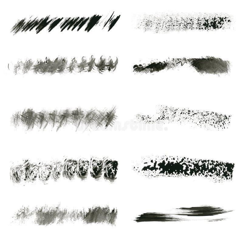 Conjunto de cepillo de la tinta imagen de archivo