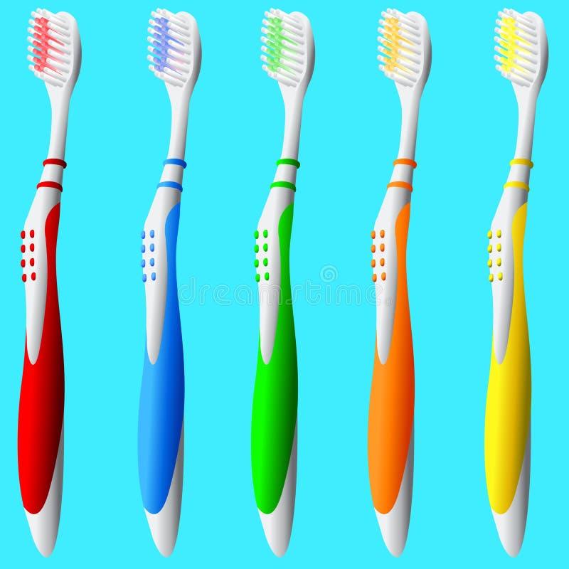 Conjunto de cepillos de dientes libre illustration