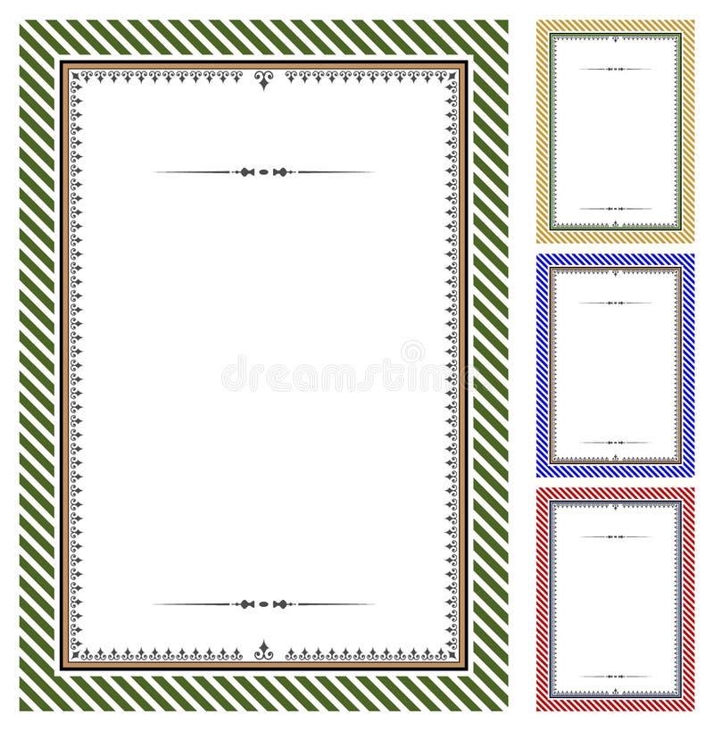 Conjunto de certificados del vector stock de ilustración