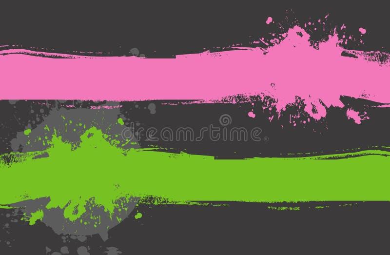 Conjunto de chapoteo del color ilustración del vector