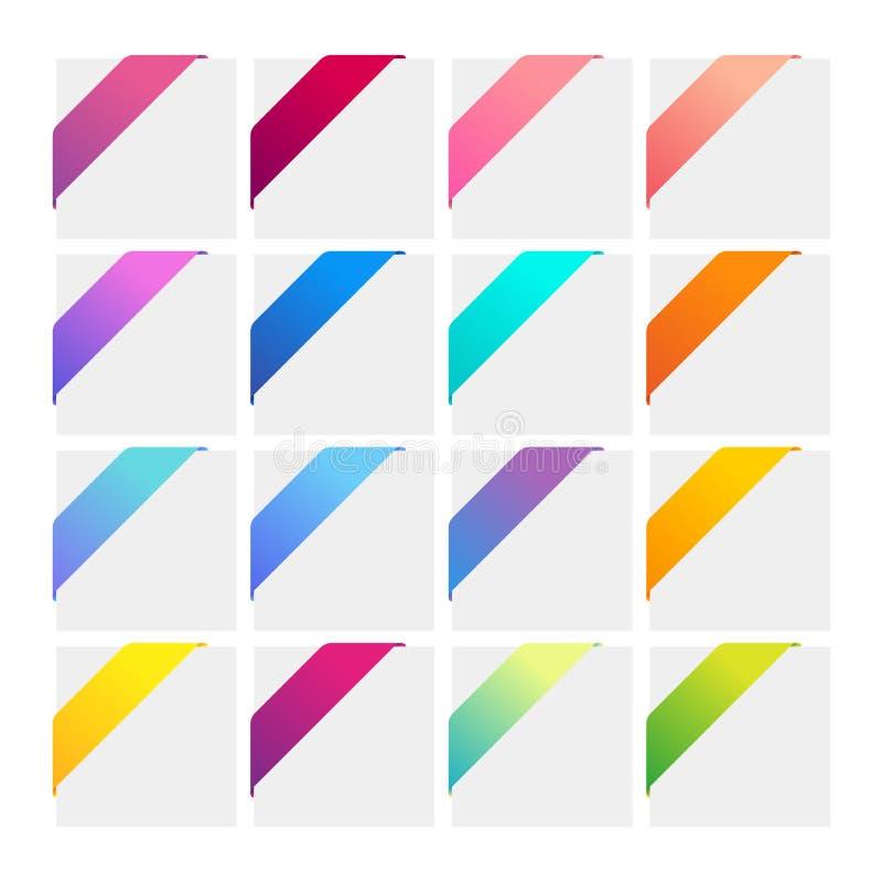Conjunto de cintas de la esquina coloridas libre illustration