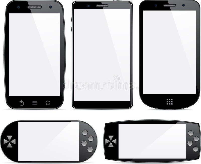 Conjunto de conceptos del smartphone. libre illustration