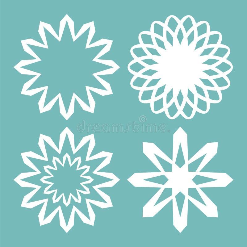 Conjunto de copos de nieve del vector ilustración del vector