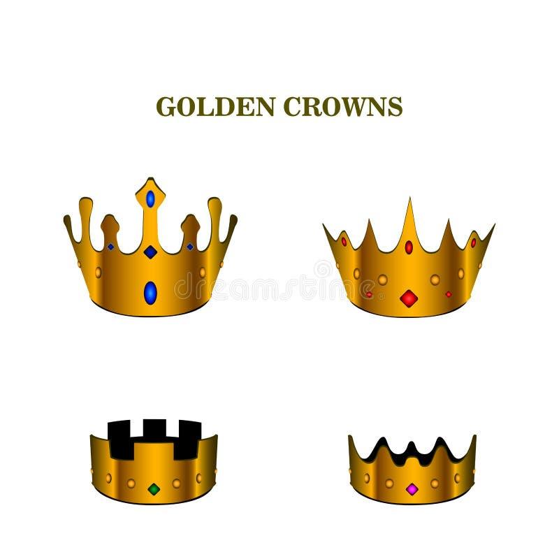 Conjunto de coronas ilustración del vector