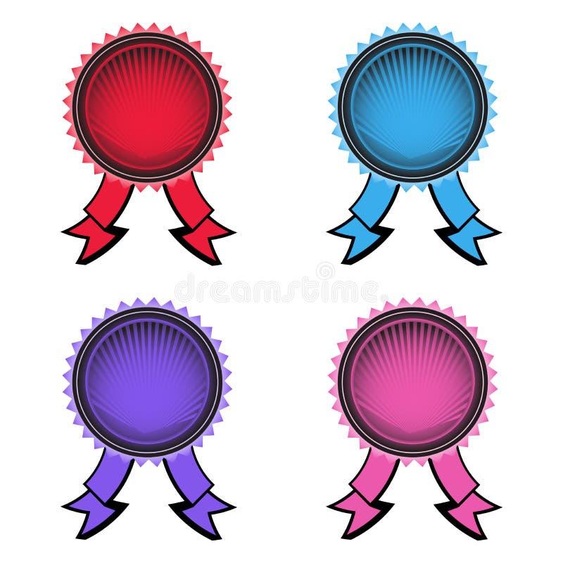 Conjunto de cuatro rosetones stock de ilustración