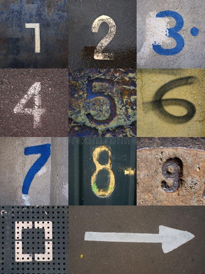 Conjunto de dígitos foto de archivo libre de regalías