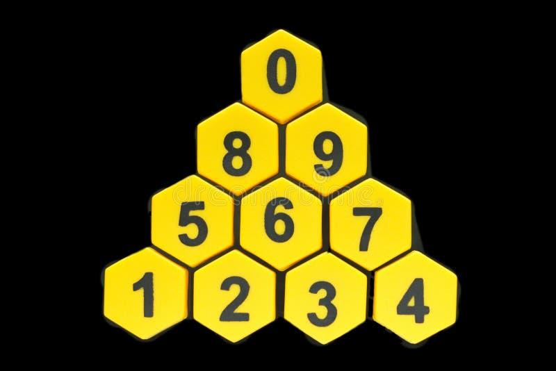 Conjunto de dígitos fotografía de archivo libre de regalías
