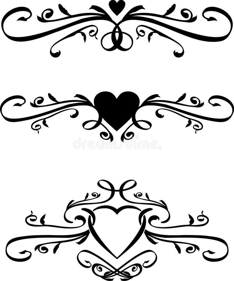 Conjunto de desfiles del corazón del vector stock de ilustración
