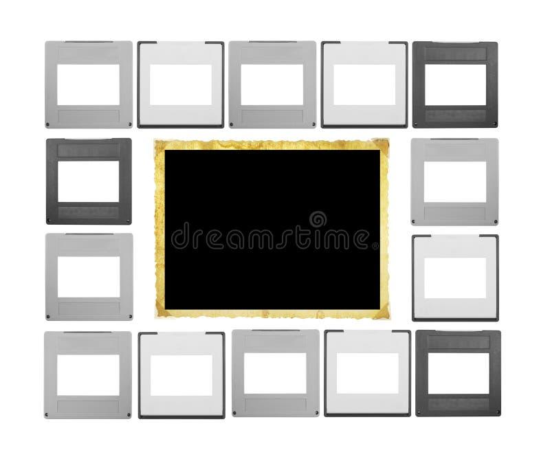 Conjunto De Diapositivas + Del Marco Imagen de archivo - Imagen de ...