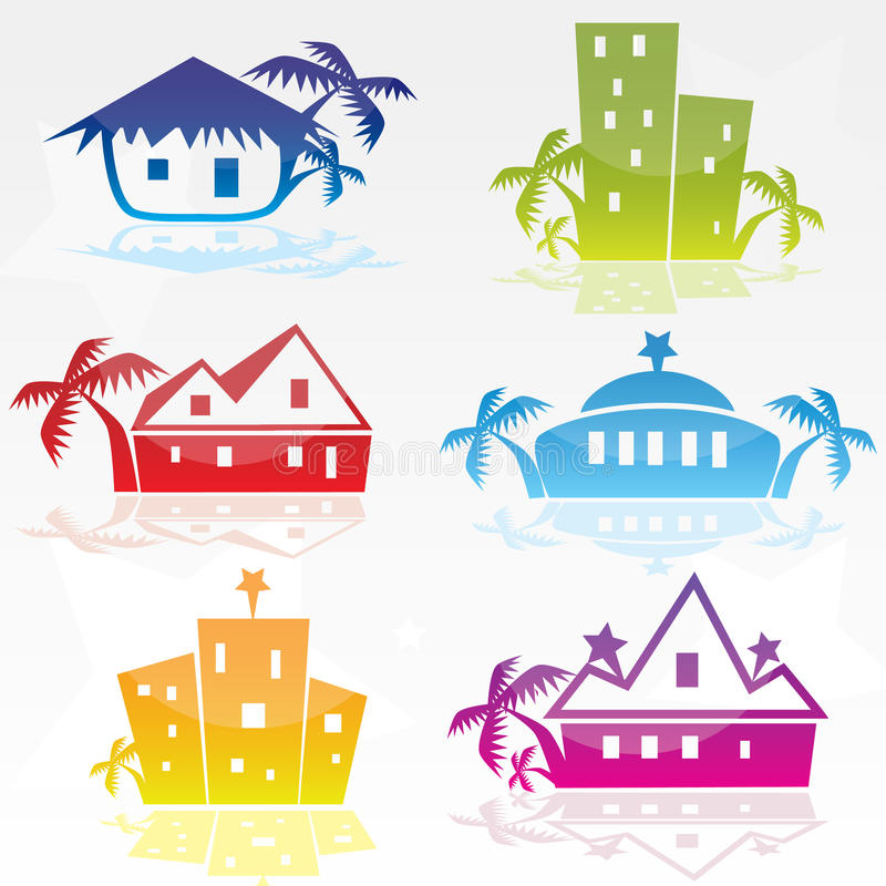 Conjunto de diversos iconos del hotel libre illustration