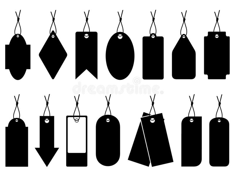 Conjunto de diversos precios ilustración del vector