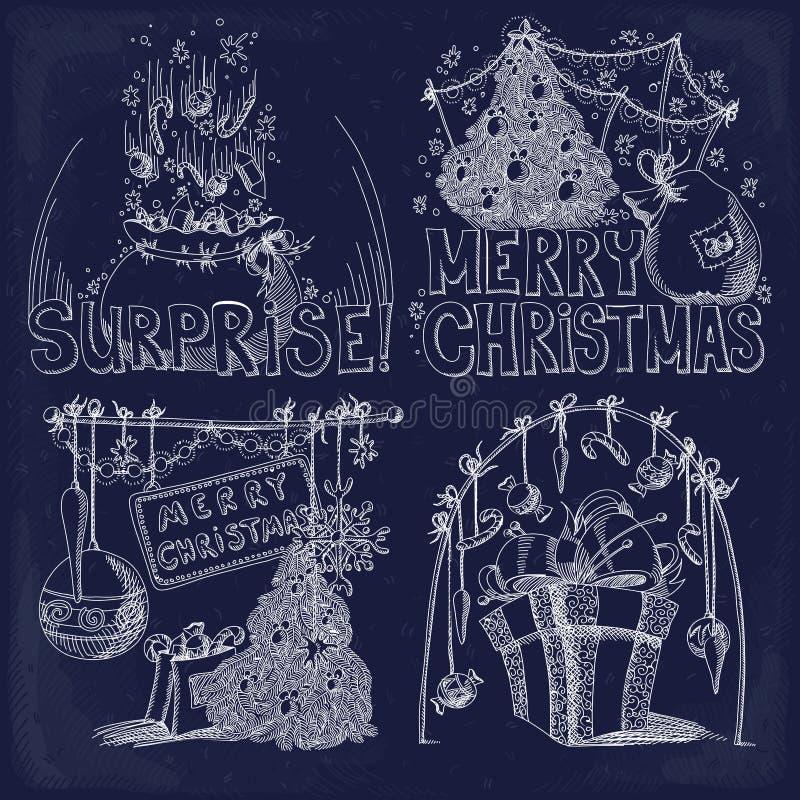 Conjunto de elementos de la Navidad libre illustration
