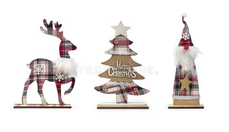 Conjunto de elementos decorativos de Natal isolados sobre fundo branco,Caminho de recorte incluído fotos de stock royalty free