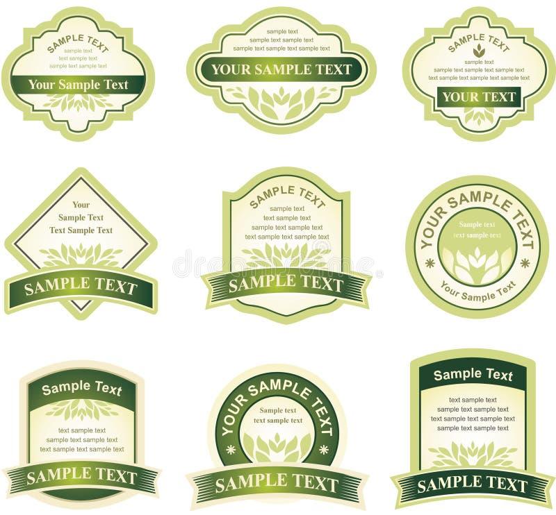 Conjunto de elementos del diseño stock de ilustración