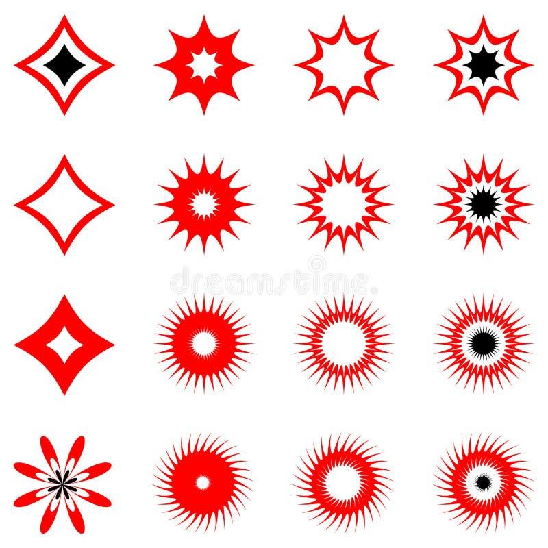 Conjunto de elementos del diseño. Vector. ilustración del vector