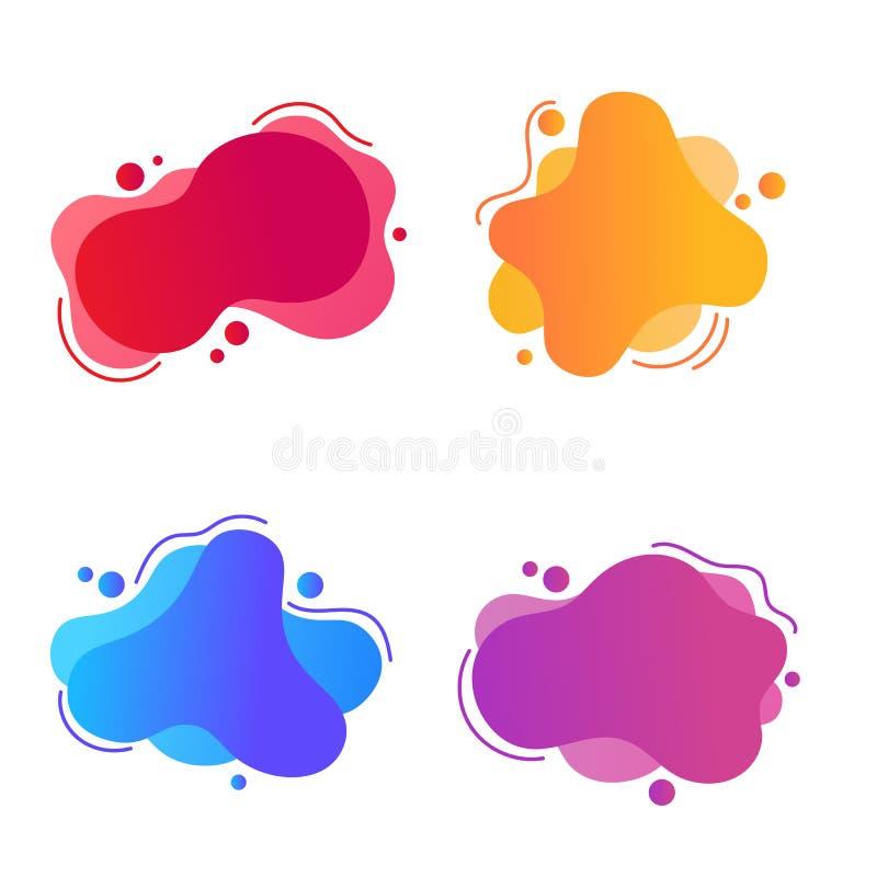 Conjunto de elementos gráficos modernos abstratos Modelo para a concepção de um logótipo, Vetor Illustration