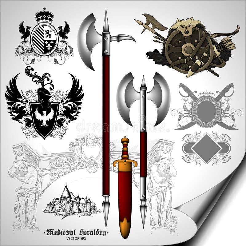 Conjunto de elementos heráldicos libre illustration
