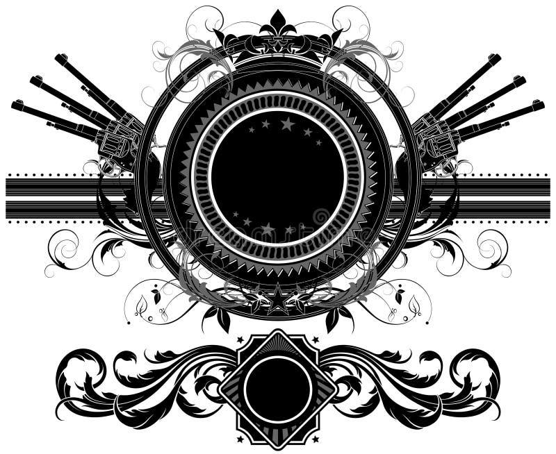 Conjunto de elementos ornamentales stock de ilustración