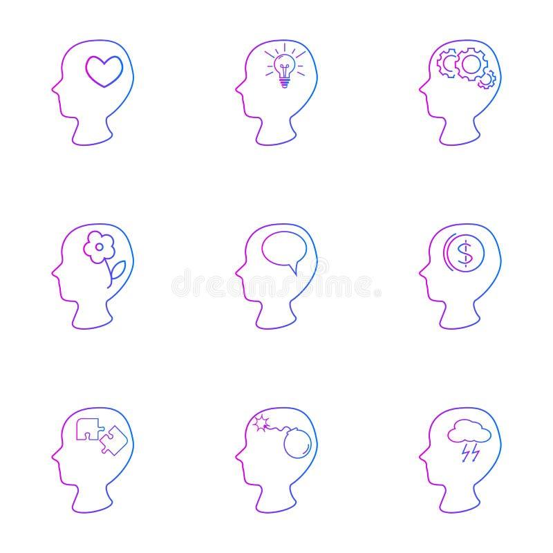 Conjunto de emociones humanas libre illustration