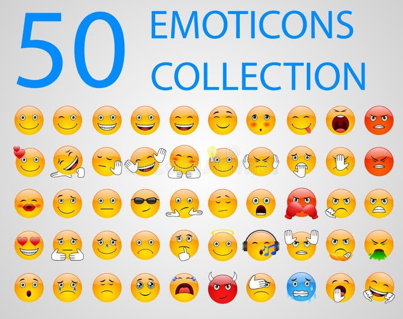 Conjunto de emoticons ilustración del vector