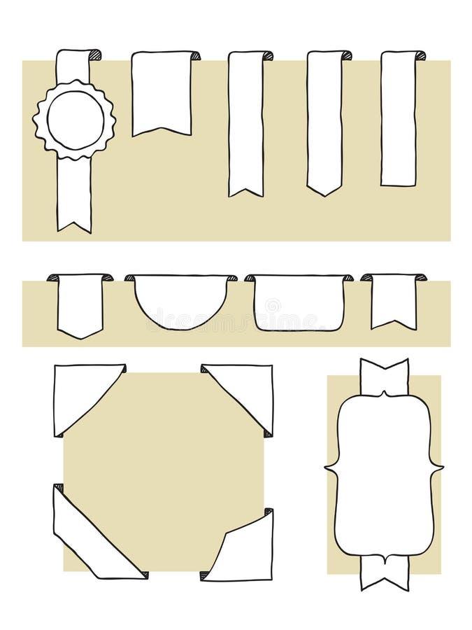 Conjunto de escritura de la etiqueta ilustración del vector