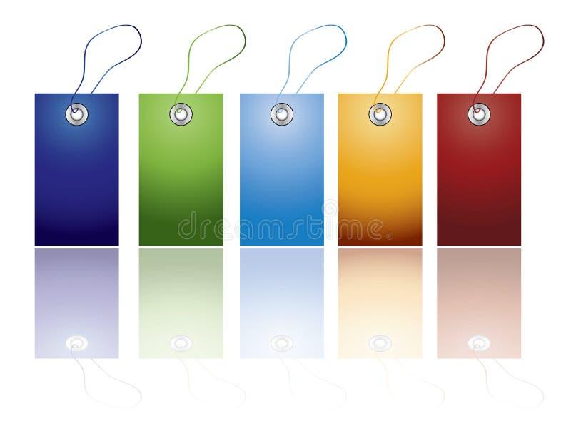 Conjunto de escritura de la etiqueta coloreado ilustración del vector