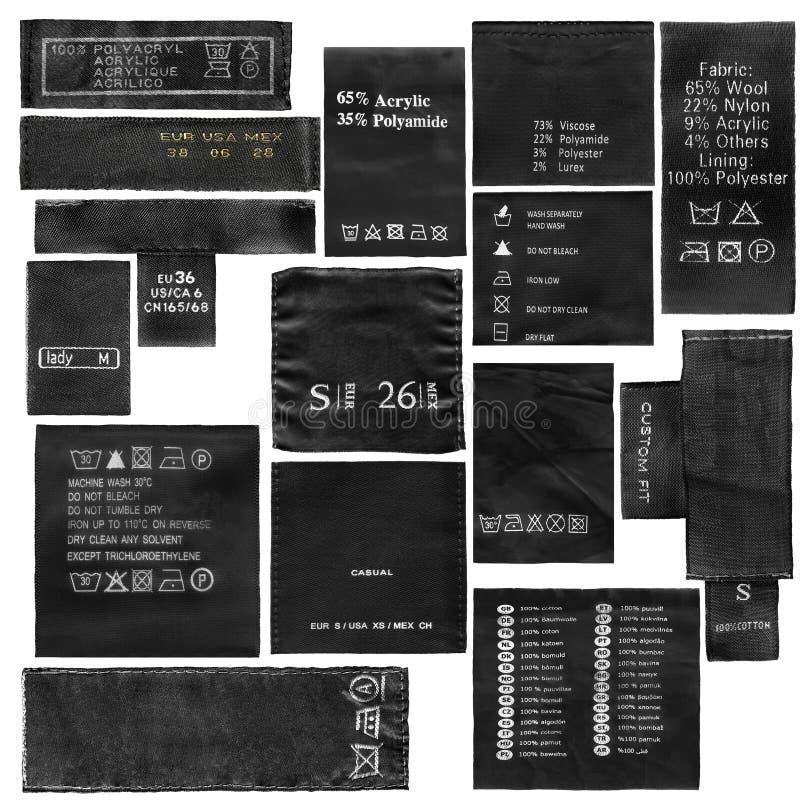 Conjunto de escrituras de la etiqueta foto de archivo libre de regalías