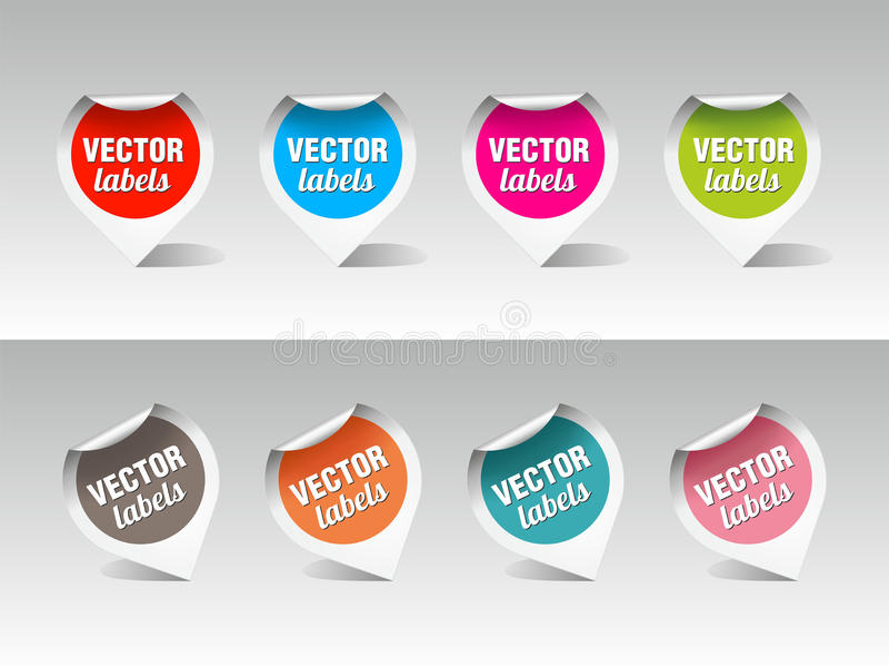 Conjunto de escrituras de la etiqueta del vector imagenes de archivo