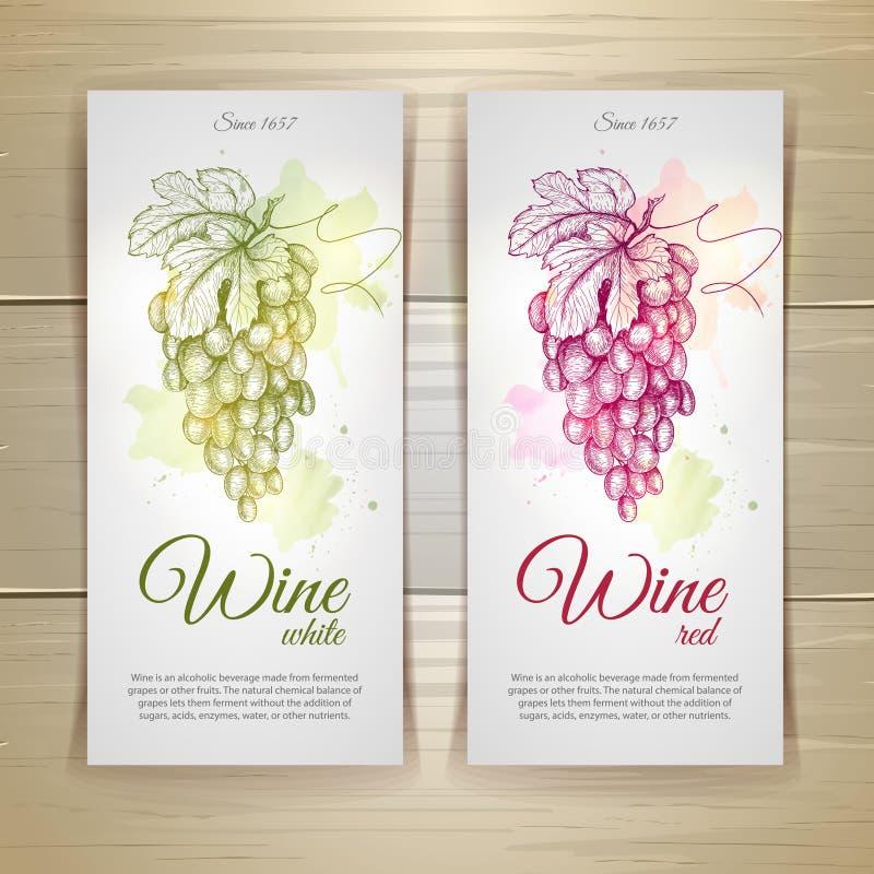 Conjunto de escrituras de la etiqueta del vino libre illustration