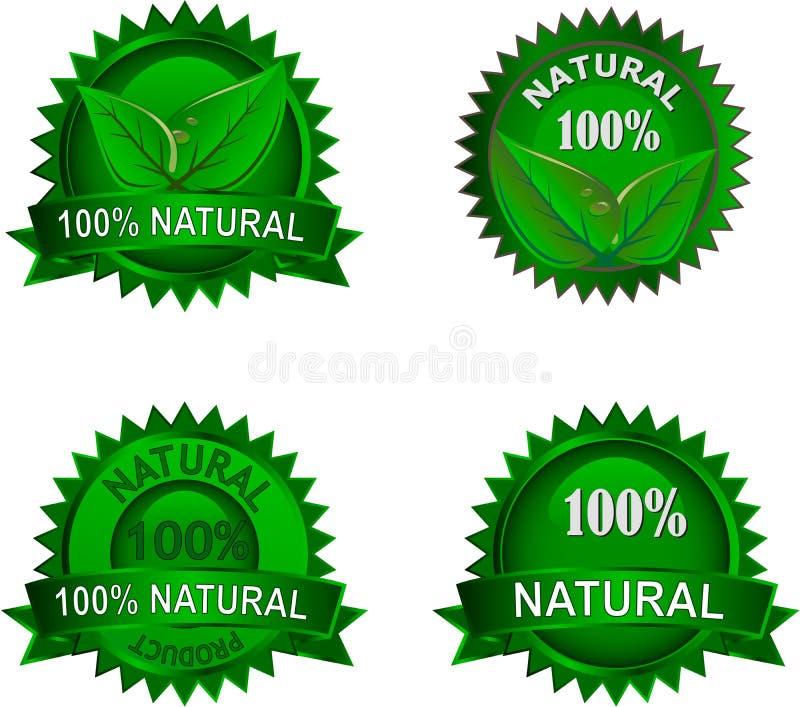Conjunto de escrituras de la etiqueta natural del eco fotografía de archivo