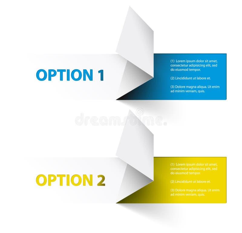 Conjunto de etiquetas engomadas coloridas de la opción de la muestra del vector ilustración del vector