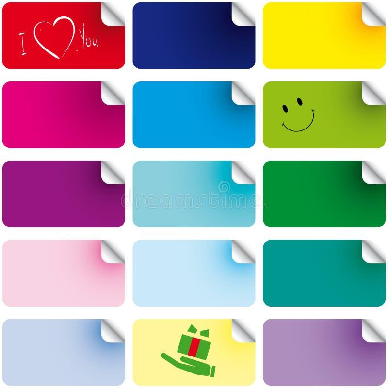 Conjunto de etiquetas engomadas del color libre illustration